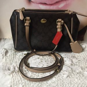 Coach crossbody multi compartment bag